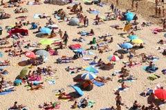 Strandleben Stockbild