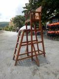 Strandlivräddare Chair arkivfoton