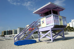 strandlivräddaremiami station royaltyfria foton