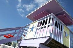 strandlivräddaremiami station royaltyfria bilder