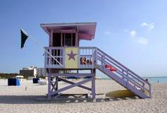strandlivräddaremiami station royaltyfri bild