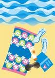 strandlivstid vektor illustrationer