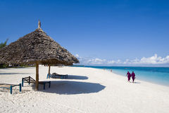 strandlokaler som går zanzibar Arkivbild