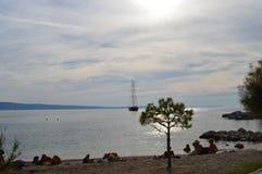 Strandmånad Arkivfoto