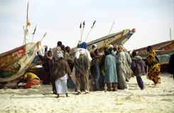 Strandmarkt, Nouakchott, Mauretanien Stockbild