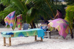 Strandmassagebehandling arkivbilder