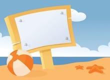 Strandmeddelande stock illustrationer