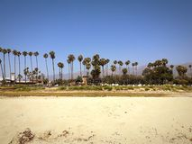 Strandmening in Santa Barbara, Californië royalty-vrije stock afbeeldingen