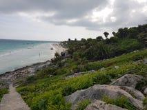strandmexico tulum Arkivbilder
