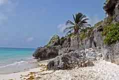 strandmexico tulum Royaltyfri Fotografi
