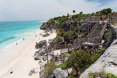 strandmexico tulum yucatan Arkivfoton