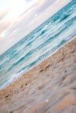 strandmiami solnedgång Arkivbild
