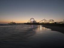 strandmonica natt santa Royaltyfri Foto