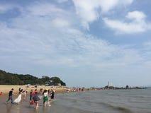 Strandmorgen lizenzfreie stockfotos