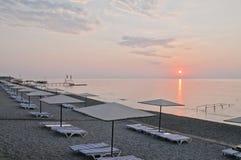 strandmorgon Arkivfoton
