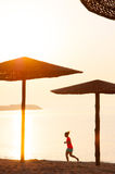 Strandmorgonkörning arkivfoto