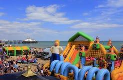 Strandmunterheter Eastbourne England Royaltyfria Foton