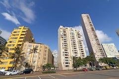 Strandnahe Stadt-Skyline Durban Südafrika Lizenzfreie Stockfotos
