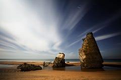 strandnatt Arkivbilder
