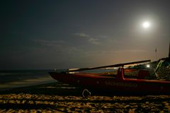 strandnatt Royaltyfri Bild