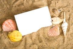 strandnotecard royaltyfri fotografi