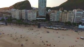 Strandområdet av staden i Rio da Janeiro Shevelev stock video