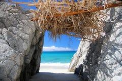 strandparadis Arkivbild