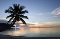 strandparadissolnedgång Royaltyfri Bild