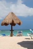 Strandparaplu Stock Afbeelding