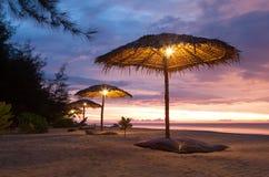 strandparaply Royaltyfri Foto