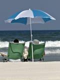 strandparaply Royaltyfri Fotografi
