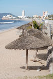 Strandparaplyer arkivbilder