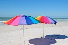 Strandparaplyer Royaltyfri Bild