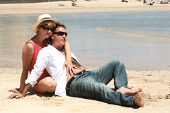 strandparromantiker Royaltyfri Foto