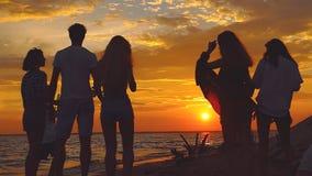 Strandpartij het dansen Het Slow-motion schieten stock footage
