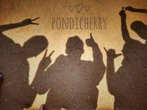 Strandpartij in Pondicherry royalty-vrije stock foto