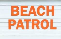 Strandpatrouillenzeichen Lizenzfreies Stockbild