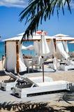Strandpavillon lizenzfreie stockfotografie