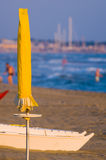Strandplats Viareggio Tuscany arkivfoton