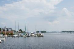 Strandplatser i washington North Carolina royaltyfri fotografi