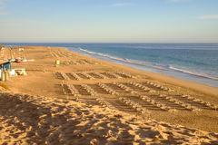 Strandplaya del Matorral - Fuerteventura, Spanje - 14 02 2017 Royalty-vrije Stock Afbeeldingen