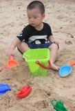 strandpojke Arkivfoton