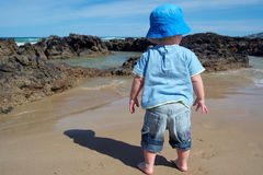 strandpojke Royaltyfria Bilder
