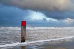 Strandpol Fotografering för Bildbyråer