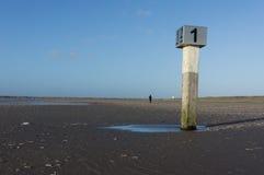 Strandpol IJmuiden Arkivfoto