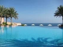 Strandpool in Oman Stockfotografie