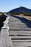 Strandpromenad i bergen Royaltyfri Foto