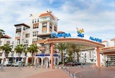 Strandpromenad i den Agadir staden, Marocko Arkivbilder
