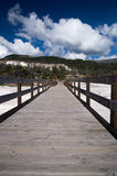 Strandpromenad på Mammoth Hot Springs Royaltyfri Foto