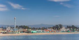 Strandpromenad på stranden av Santa Cruz royaltyfria bilder